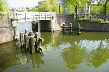 White small bridge in Wittenburg, Amsterdam
