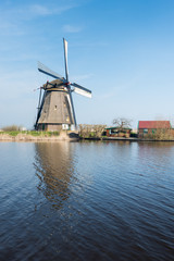 Historic windmill in Kinderdijk