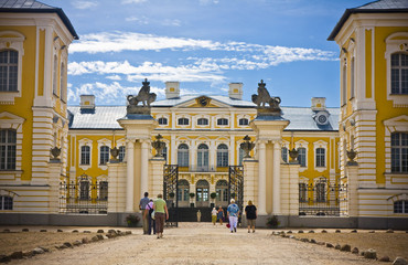 Main gate of Rundale palace in Latvia