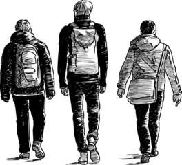 three going men