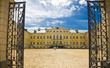 Rundale palace, was built in 1740