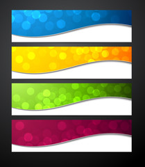 Set of colorful paper banners.
