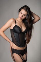 Photo of young girl in lingerie