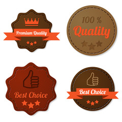 Leather quality labels