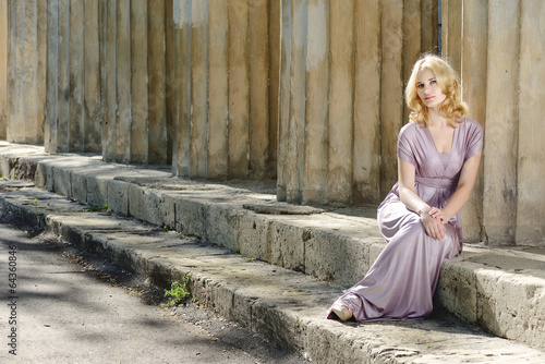 young model  near old columns