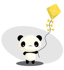 Panda Playing Kite