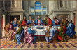 Leinwanddruck Bild - Venice - Last supper of Christ by Girolamo da Santacroce