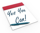 Yes You Can! Notebook Shows Positive Incentive And Persistence poster