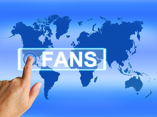 Fans Map Shows Worldwide or International Followers or Admirers