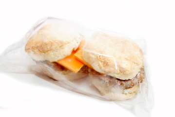 Packaged, Frozen Sausage and Cheese Sandwich