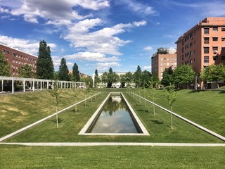 Beautiful park in Madrid, Spain