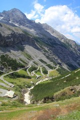 Italian Alps - Stelvio Pass Road - Alpine landscape