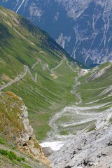 Italy - Stelvio Pass Road - Alpine landscape