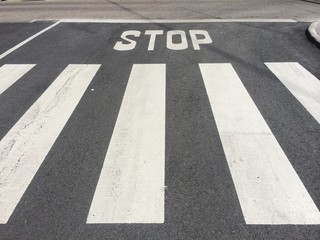 Stop sign in the road