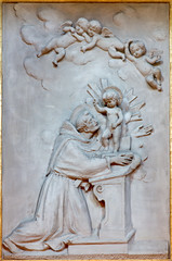 Bologna - Relief of st. Anthony of Padoua