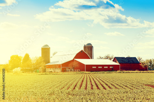 Traditional American Farm - 64363283