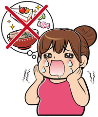 食事制限中の女性