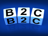 B2C Blocks Represent Business and Commerce or Consumer poster