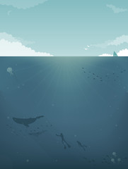 Sea background Illustration