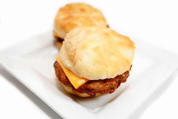 Delicious Sausage Sandwich with Cheese