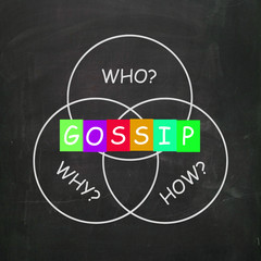 Gossip Words Show Who What When Where and Why