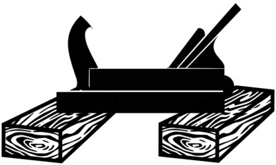 Schreinerhobel auf Holz