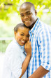 afro american couple outdoors