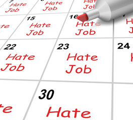 Hate Job Calendar Shows Loathing Work And Workplace