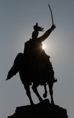 Venice - Silhouette of Monument to Victor Emmanuel II