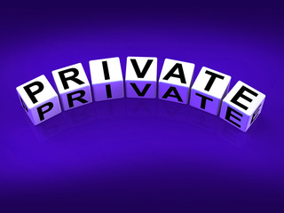 Private Blocks Refer to Confidentiality Exclusively and Privacy