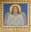 Vienna - Fresco of symbolic angel with the Eucharist