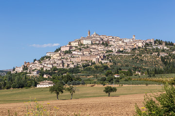 castle of old town in Umbria, Italy