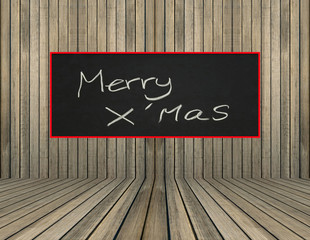 merry x'mas sign on wood wall