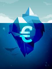 Iceberg financial concept