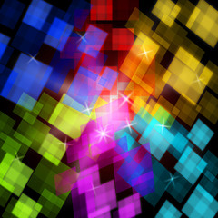 Colourful Cubes Background Shows Digital Art Or Design