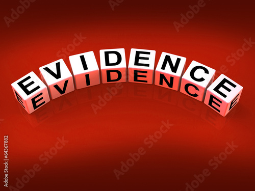 Evidence Blocks Represent Evidential Substantiation and Proof
