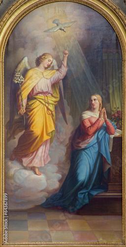 Vienna - Annunciation from main altar of baroque Servitenkirche