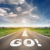 Straße mit dem Wort go