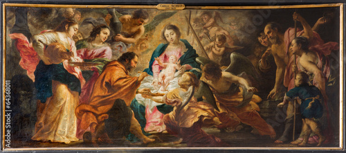 Antwerp - Nativity scene by Cornelis Schut