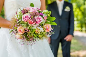 Brautpaar, Brautstrauß