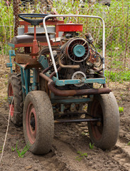 Vintage Tractor, Ready for Seeding.