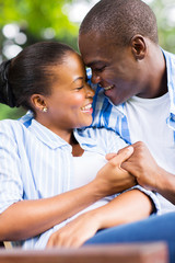 young african american couple in love