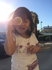 asian girl with funny face