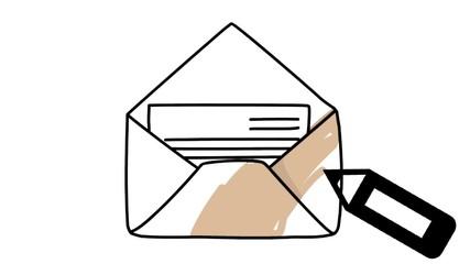 Newsletter Brief Letter Eintrag Zeichnung Hand
