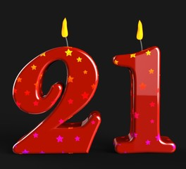 Number Twenty One Candles Mean Adult Celebration Or Party