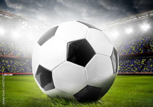 Foto op Canvas Stadion soccer ball