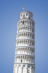 Leaning Tower of Pisa Isolated