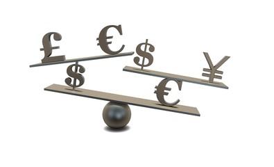forex concept idea with currencies symbols