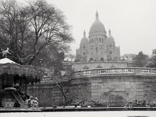 Le Sacré coeur sous la neige