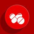 medicine web flat icon